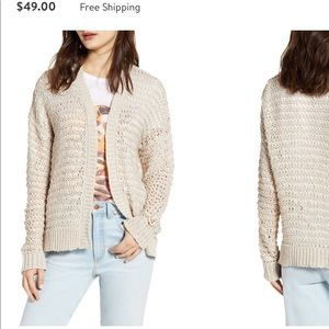 Cotton Emporium | Oatmeal Chunky Knit Cardigan L